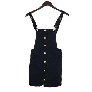 Pacsun overall denim black dress sz xs